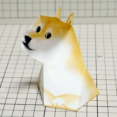 Doge Illusion Papercraft