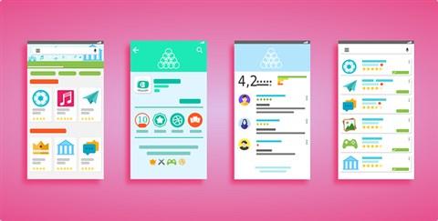 Tampilan Antarmuka Perangkat Android