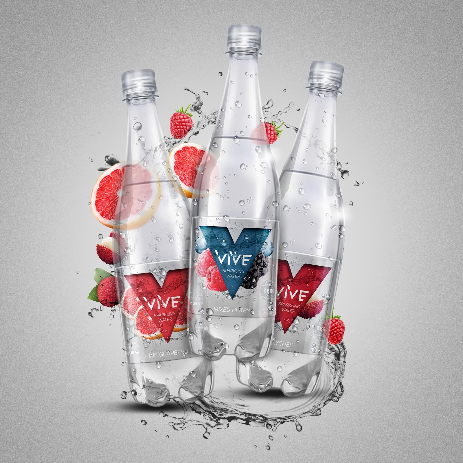 Vive Sparkling Water On Packaging Of The World Creative