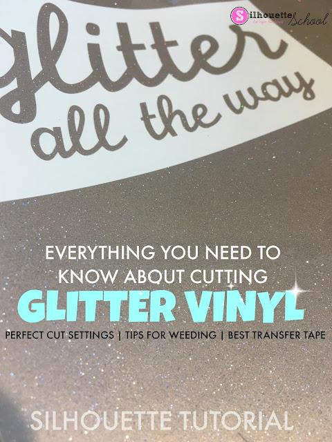 Glitter Adhesive Vinyl, Glitter Adhesive Vinyl Rolls, glitter vinyl, silhouette 101, silhouette america blog