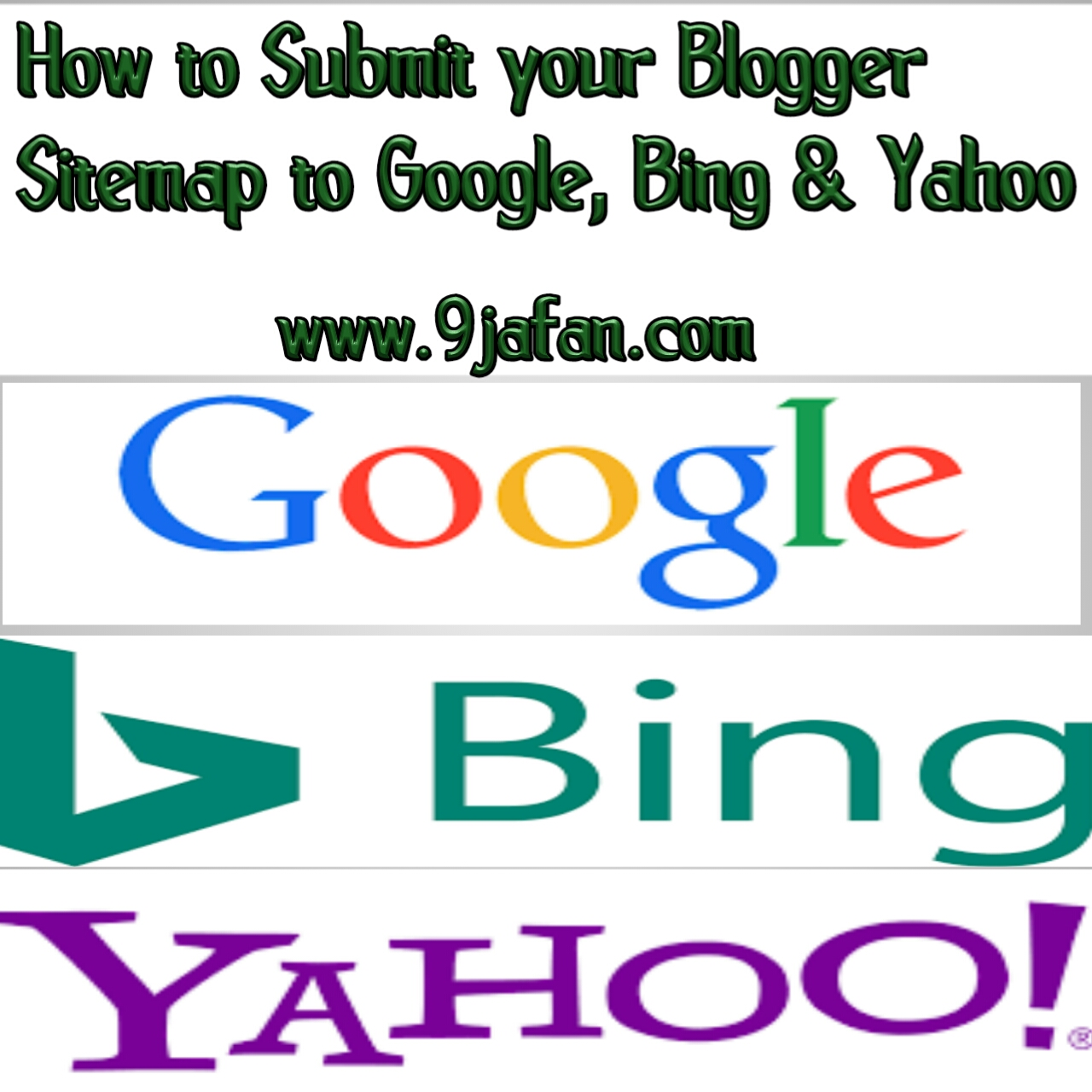 how to submit your blogger sitemap to google bing yahoo