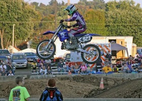 Motorbike race at Coshocton Fair.