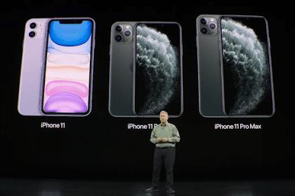 Spesifikasi dan Harga iPhone 11, iPhone 11 Pro dan  iPhone 11 Pro Max
