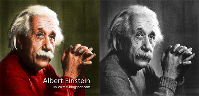 Albert Einstein in colour