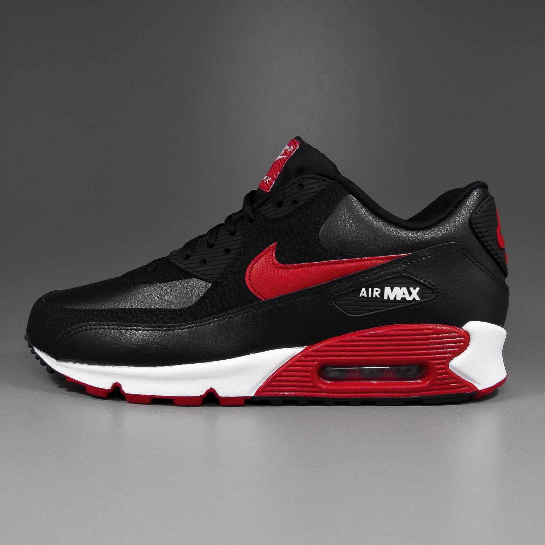 32033d95dcd ... black sport red-white. Der aktuelle Air Max 90 in der Essential Version  aus genarbtem Glattleder mit matt schwarzen Overlays