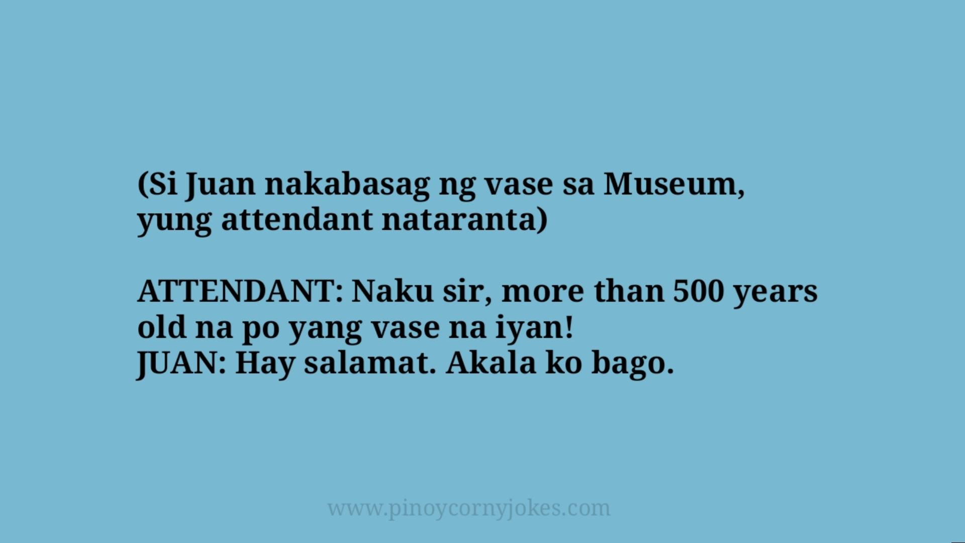 nakabasag vase bobo jokes tagalog