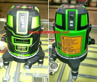 Darmatek Jual Murah Green Laser Dekko AL-515 Cross Line Laser Komplit Tripod
