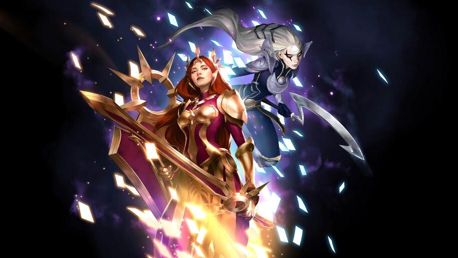 Leona, Diana, LoL, Legends of Runeterra, 4K, #5.2763