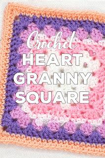 Unicorn Dreams Blanket CAL Heart Granny Square Pattern
