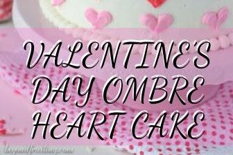 VALENTINE'S DAY OMBRE HEART CAKE