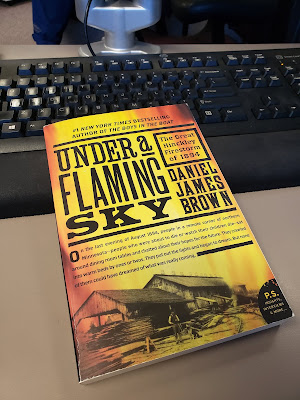 """Under a Flaming Sky"" book cover"