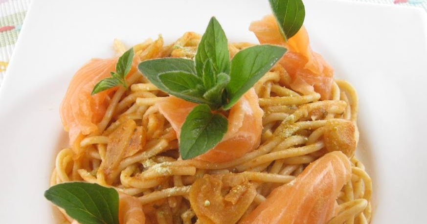 My Asian Kitchen: Salmon Wasabi in Spaghetti