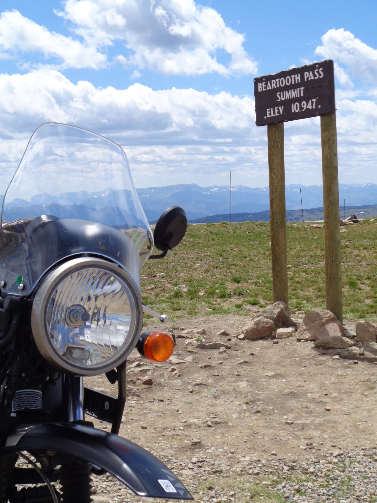 Beartooth Pass on a Royal Enfield Himalayan