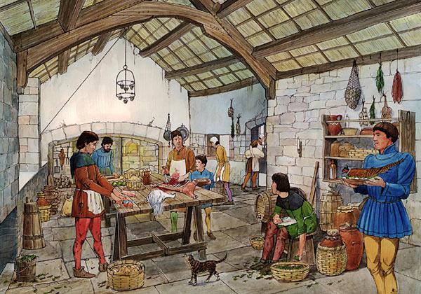 medieval royal kitchen