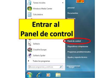en el panel de control podemos encontrar todas las opciones para controlar nuestro pc entre ellas crear y eliminar cuentas para usuarios nuevos en nuestro computador