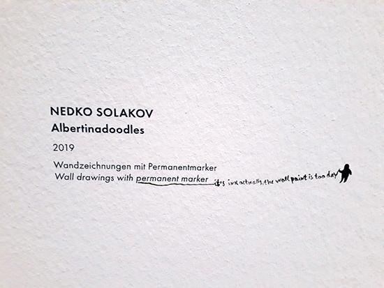 Nedko Solakov, Albertinadoodles, 2019