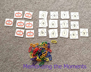 Pumpkin Seed Sight Word Fine Motor Activity perfect for morning work tubs