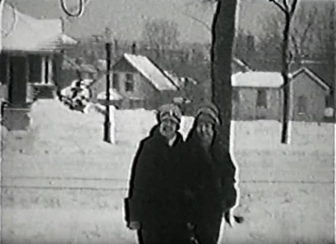 at this point in the clip from a 1927 28 home movie my grandmother elizabeth florence massmann pape 1902 2000 on the right and a woman on the left who