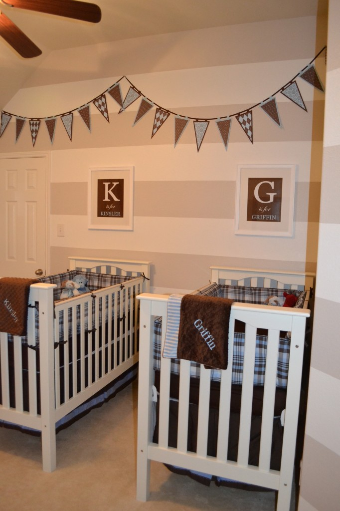 Baby Boy Bedroom: Custom Nursery Art By Kimberly: More Twin Nursery Ideas
