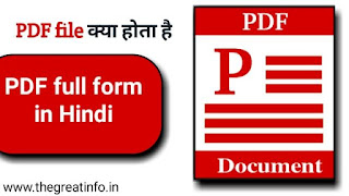PDF meaning in Hindi