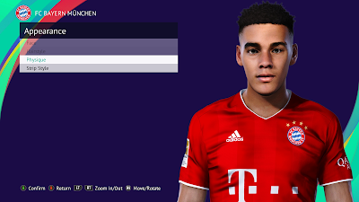 PES 2021 Faces Jamal Musiala by Rachmad ABs