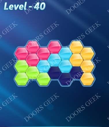 Block! Hexa Puzzle [Intermediate] Level 40 Solution, Cheats, Walkthrough for android, iphone, ipad, ipod