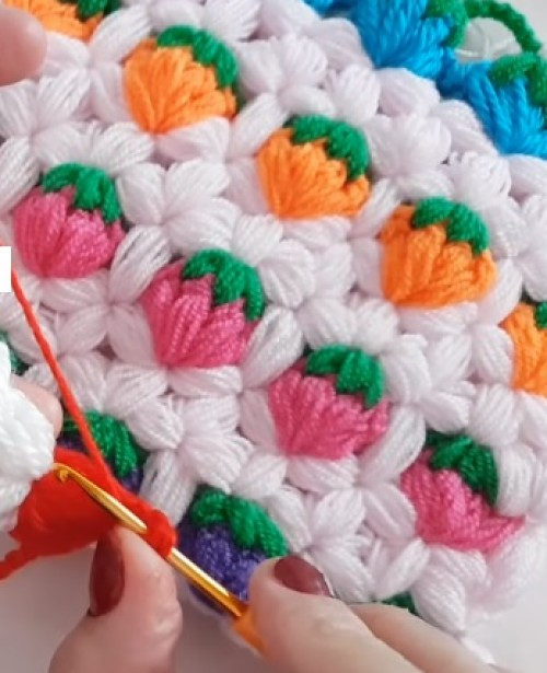 Love to Crochet a Strawberry Stitch - Tutorial