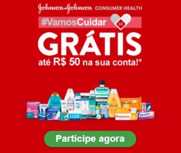 Cadastrar Promoção Vamos Cuidar Johnson & Johnson 2020 Até 50 Reais na Sua Conta