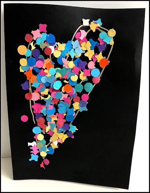carte en confettis