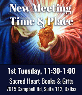 Sacred Heart Books & Gifts, 1st Tuesday meetings