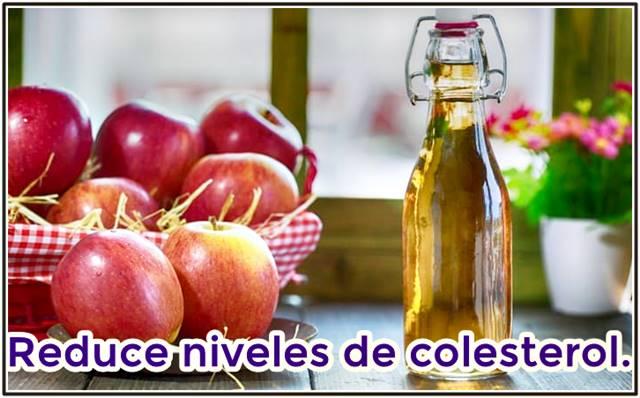 Las propiedades del vinagre de manzana reducen los niveles de colesterol arterial