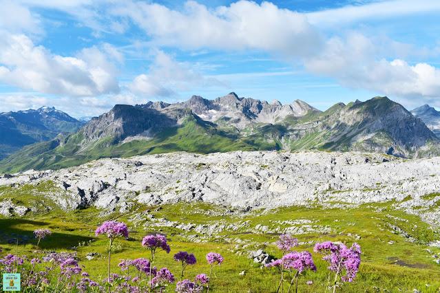 Vistas desde Rüfikopf en Lech, Vorarlberg