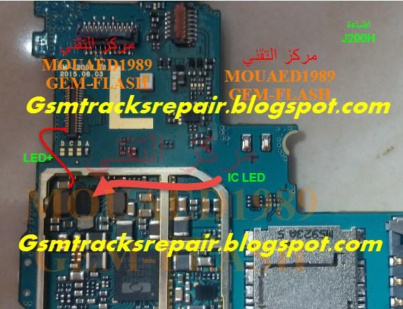 Samsung Galaxy J2 SM-J200H Lcd Light Ways Repair Solution
