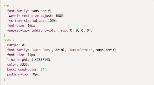 Tampilan kode CSS yang telah diwarnai oleh prism.js