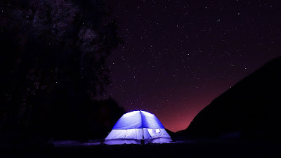 Camping tent wallpaper