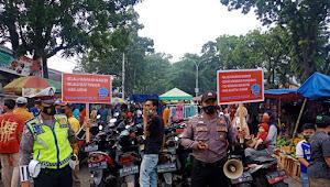 Polsek Baleendah Polresta Bandung Imbauan covid 19 di Pasar Tumpah Baleendah