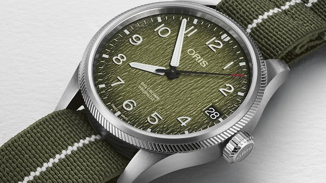 Oris Big Crown ProPilot with a dial inspired by the grasses of the Okavango Delta