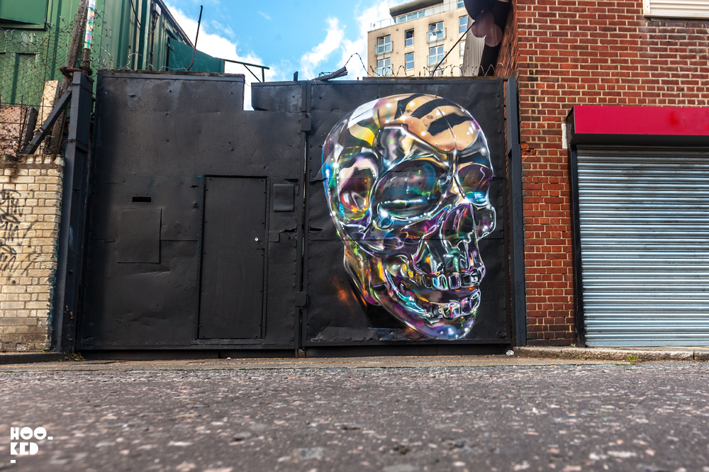 Fanakapan, Street Art Skull Mural in East London. Photo ©Mark Rigney / Hookedblog
