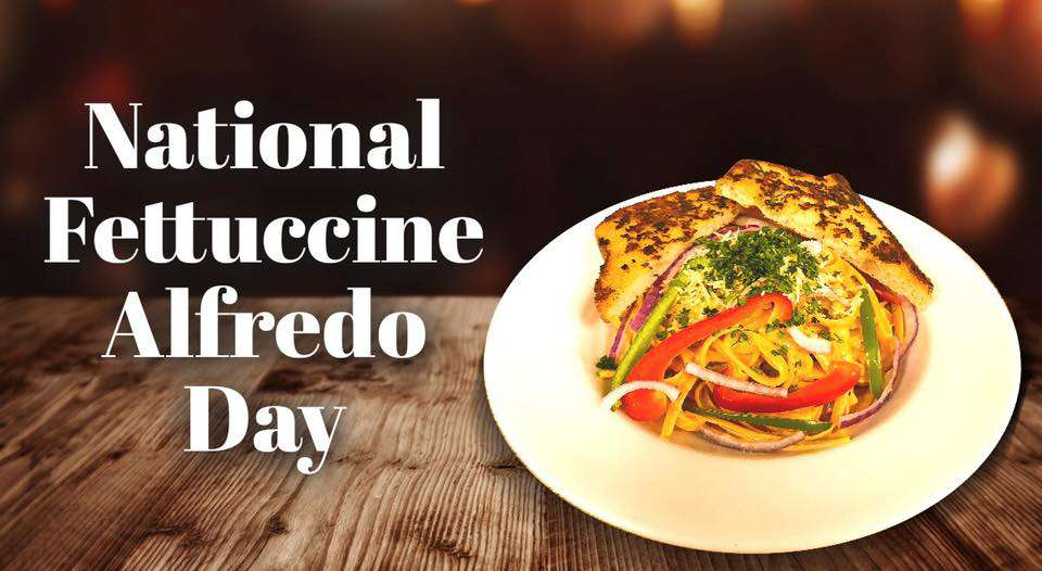 National Fettuccine Alfredo Day Wishes Unique Image