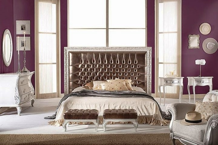 vintage purple bedroom ideas