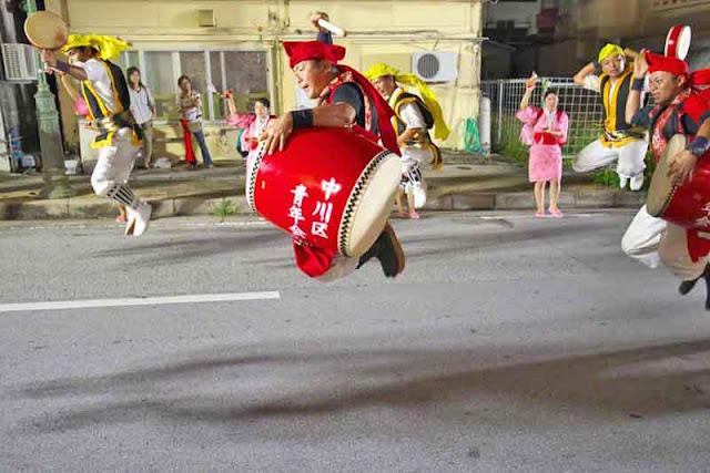 dance, Eisa, drums, jumping, Okinawa, Obon