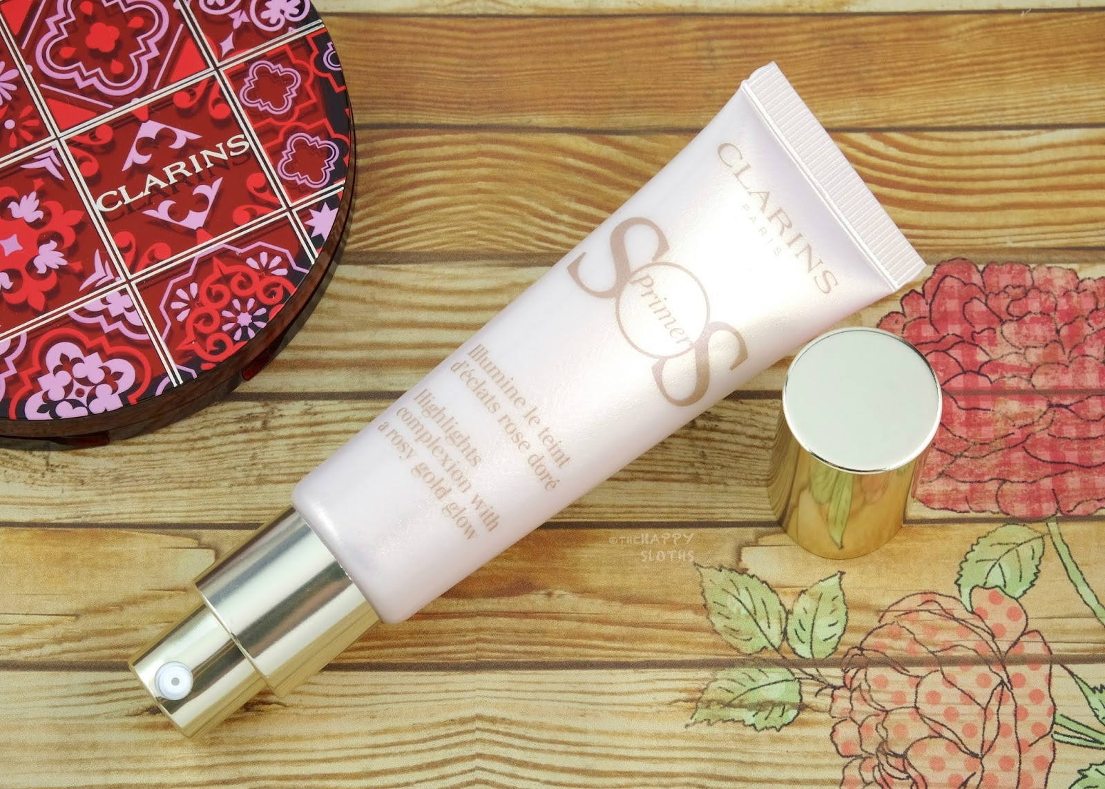 "Clarins | SOS Primer in ""08 Rosy Gold Pearls"": Review and Swatches"