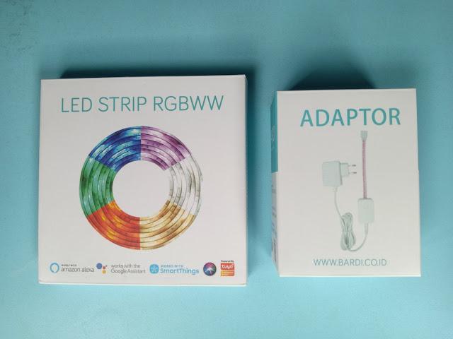bardi let strip rgbww dan adaptor for led strip 1a