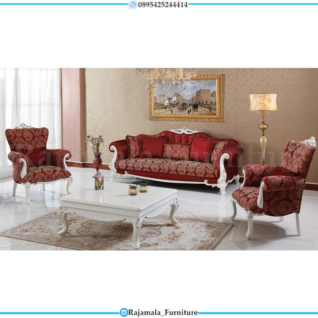 Flash Sale Sofa Tamu Mewah Red Fabric Beludru Luxury Epic Design RM-0382