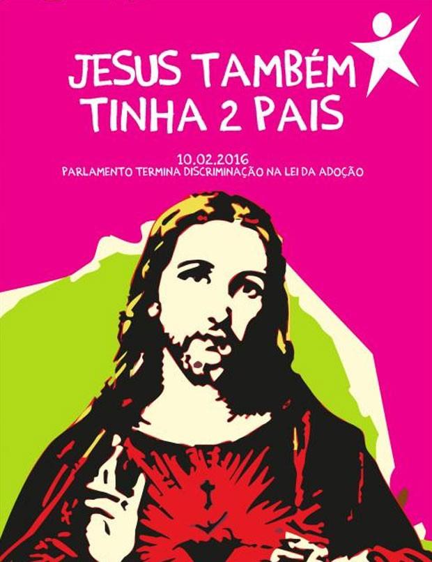 Partido usa Jesus em campanha de adoção por casais do mesmo sexo em Portugal