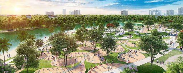 Không gian xanh ngoại khu Vinhomes Smart City