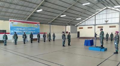 Sertijab Komandan Pangkalan TNI AL Mataram dari Kolonel Laut (P) Dados Raino kepada Kolonel Laut (P) Suratun, S.H.