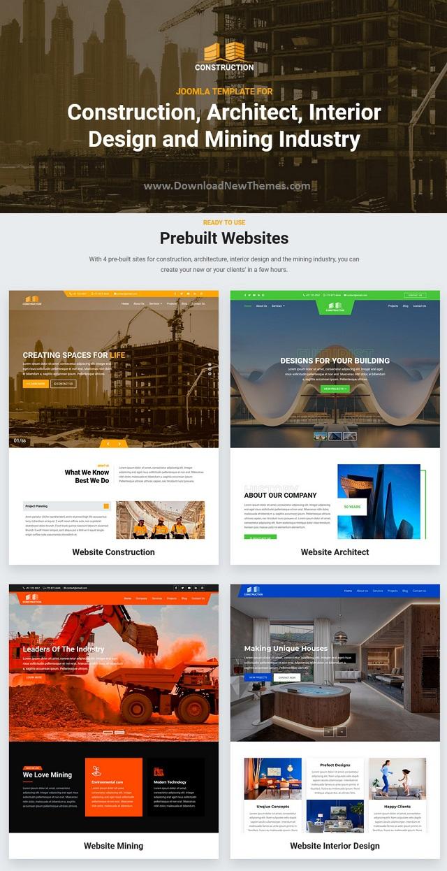 Premium Construction Joomla Template