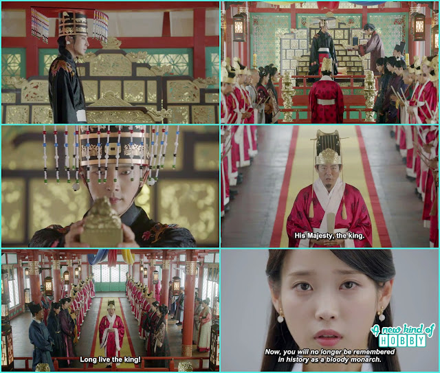 wang so got the royal seal and hae so said now he didn't known for in th ehistory to become the king shed blood - Moon Lovers Scarlet Heart Ryeo - Episode 17 (Eng Sub)