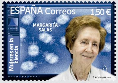 sello, filatelia, Margarita Salas,